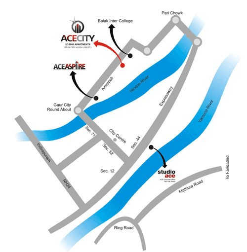 ace city location map , ace city noida extension
