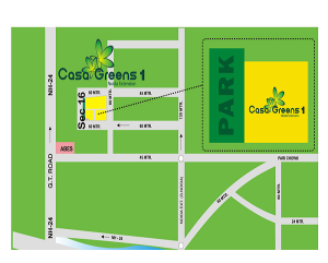 casa greens 1 location map , casa greens 1
