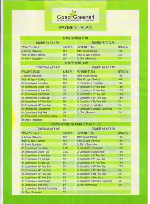 casa greens 1 payment plan , casa greens 1