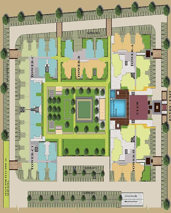 earthcon sanskriti site plan , earthcon sanskriti