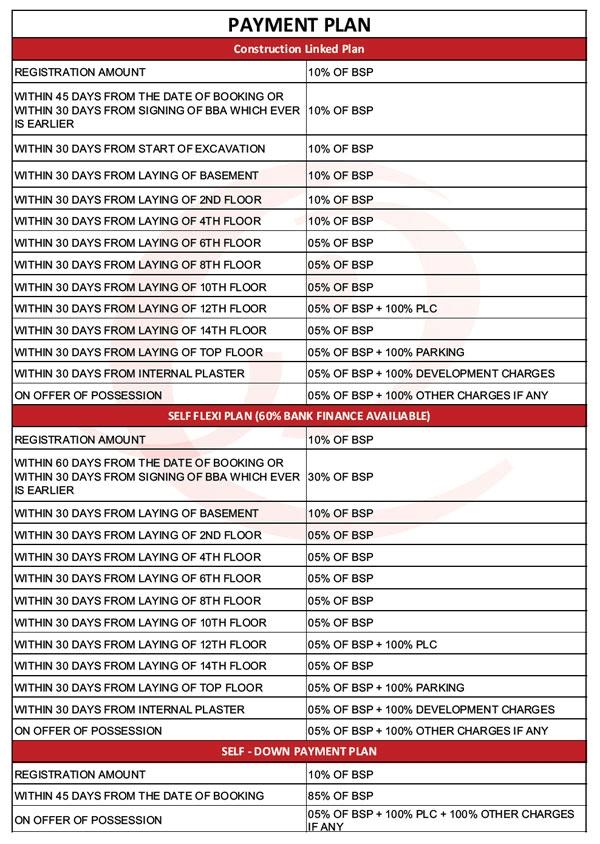 ekdant rawal residency payment plan , ekdant rawal residency