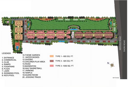 ekdant rawal residency site plan , ekdant rawal residency