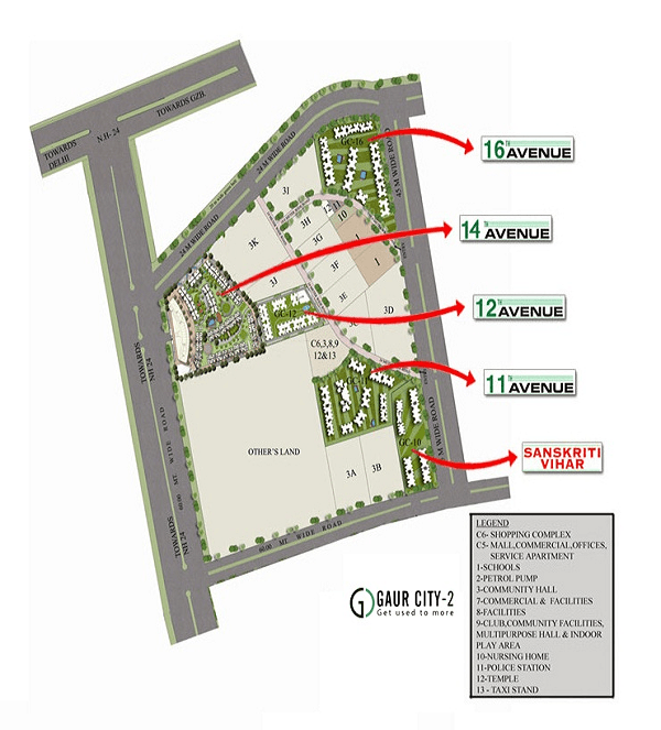 gaur city 14th avenue site plan , gaur city 14th avenue