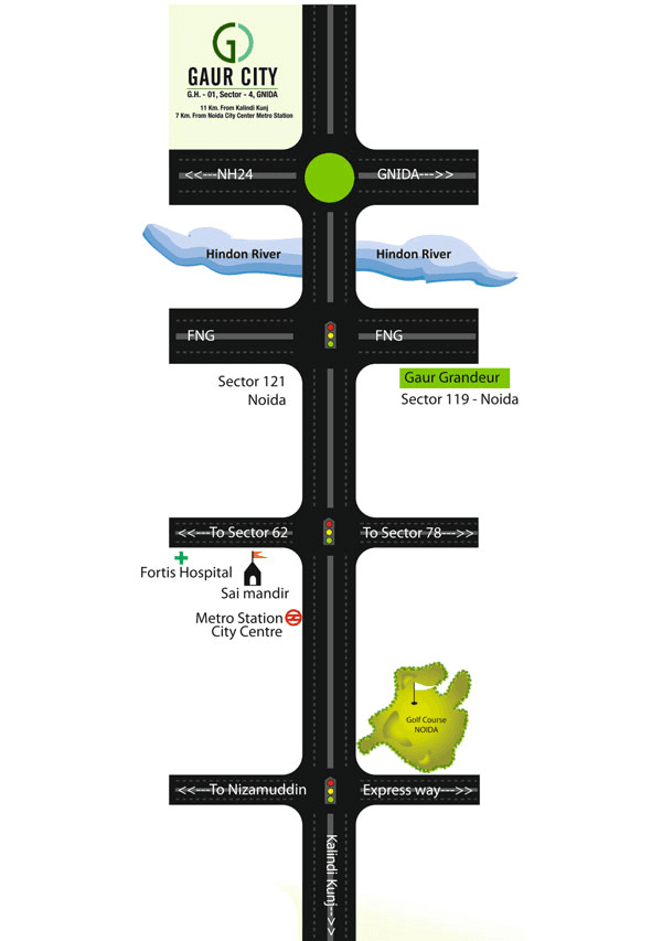gaur city 1st avenue location map , gaur city 1st avenue