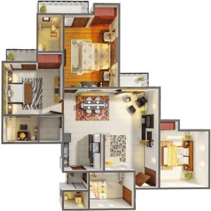gaur city 5th avenue floor plan , gaur city 5th avenue
