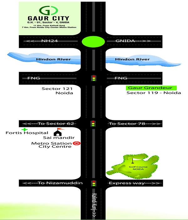 gaur city 6th avenue location map , gaur city 6th avenue