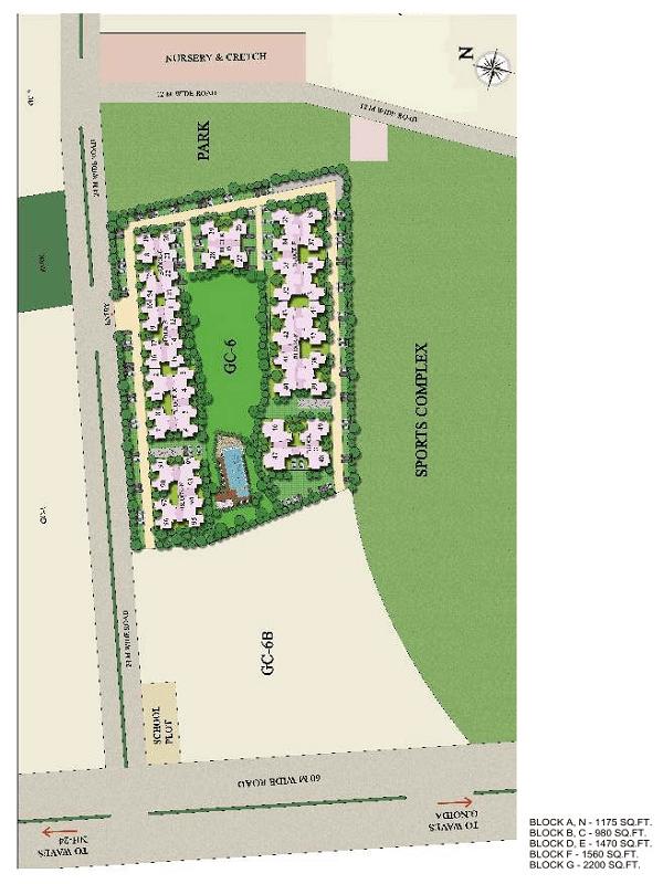 gaur city 6th avenue site plan , gaur city 6th avenue