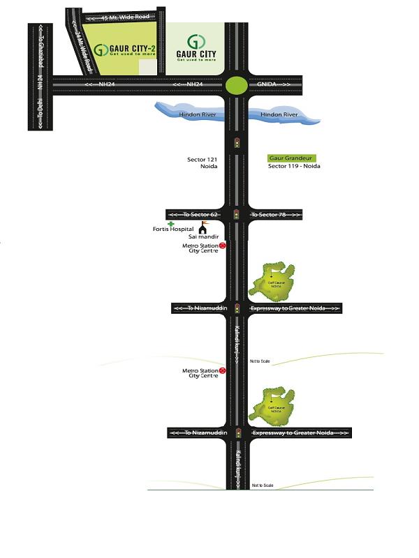 gaur city 7th avenue location map , gaur city 7th avenue