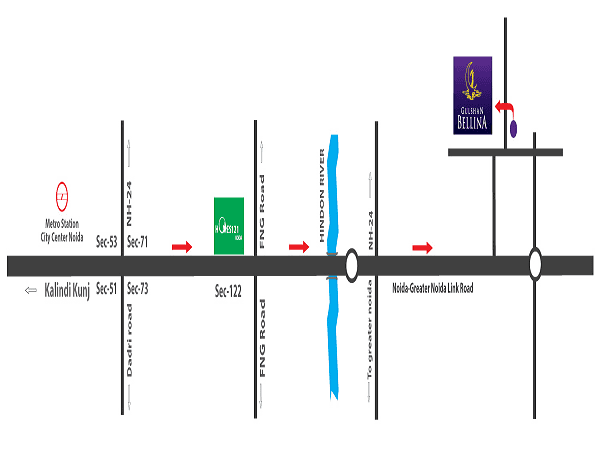 gulshan bellina location map , gulshan bellina