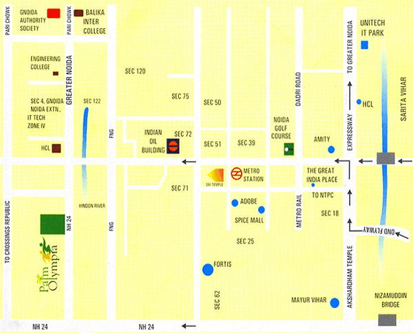 palm olympia location map , palm olympia