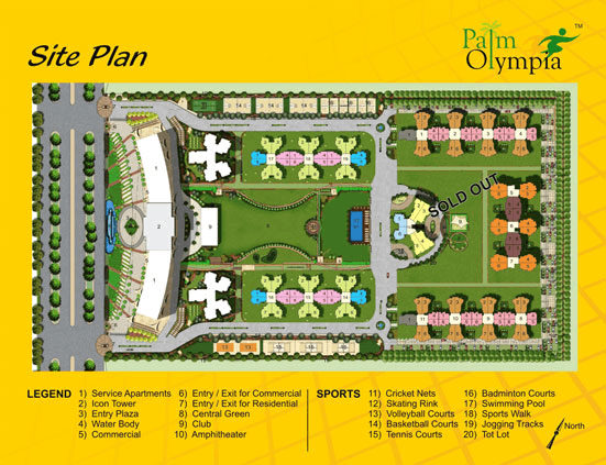 palm olympia site plan , palm olympia