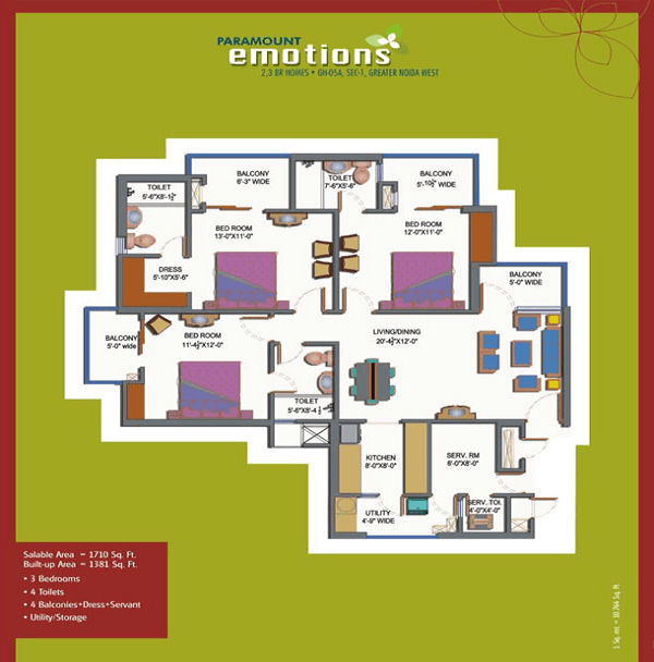 Paramount Emotions Floor Plan