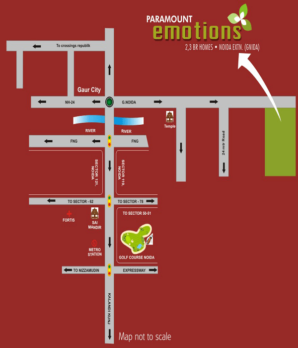 paramount emotions location map , paramount emotions