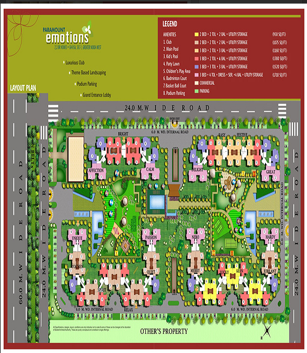 paramount emotions site plan , paramount emotions