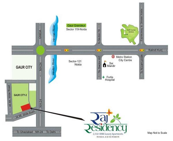 raj residency location map , raj residency