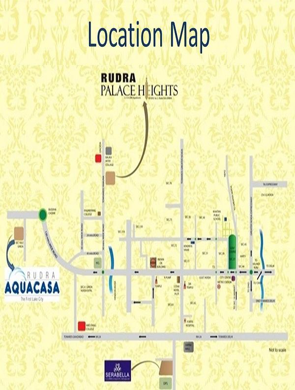 rudra aqua casa location map , rudra aqua casa