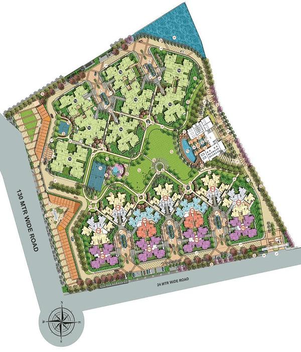 shri radha sky garden site plan , shri radha sky garden