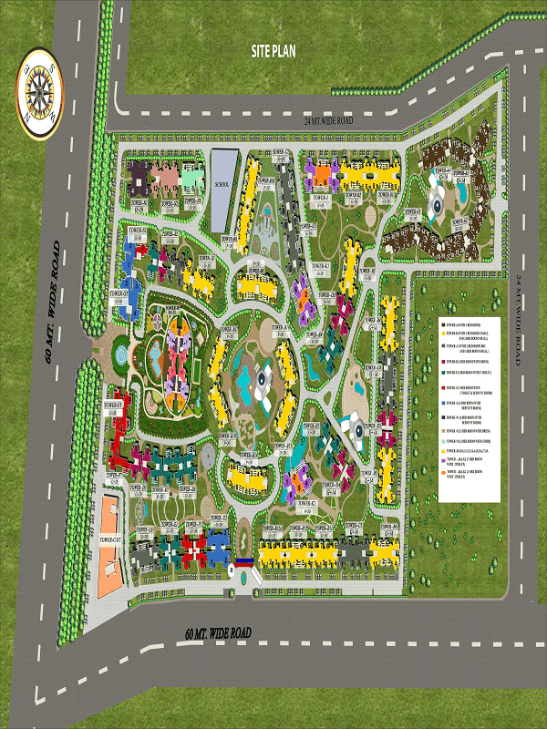 supertech eco village 1 site plan , supertech eco village 1