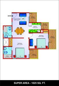 unibera floor , unibera noida extension