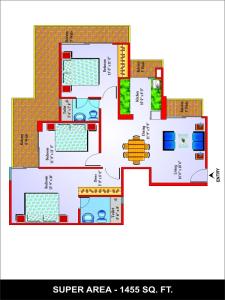 unibera floor plan , noida extension