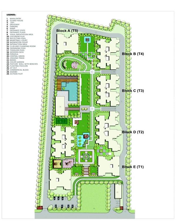 unibera site plan , unibera noida extension