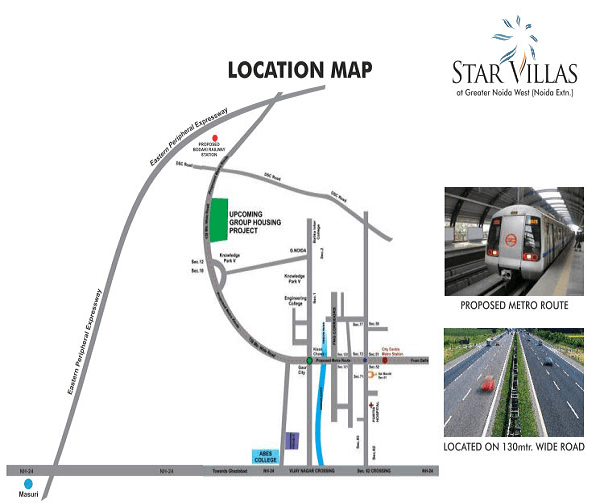 aarcity star villas location map , aarcity star villas