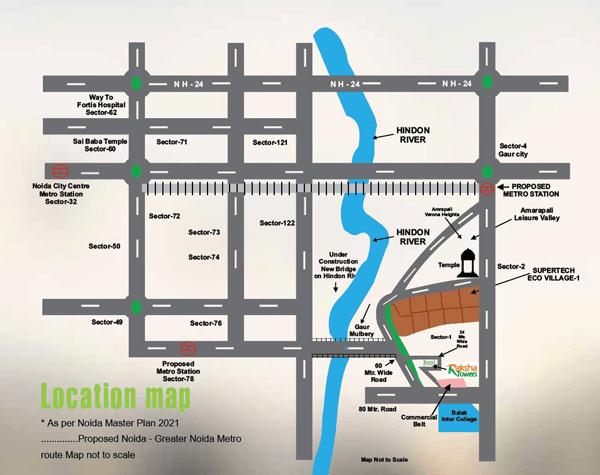 afowo raksha towers location map , afowo raksha towers