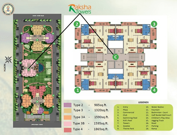 afowo raksha towers site plan , afowo raksha towers