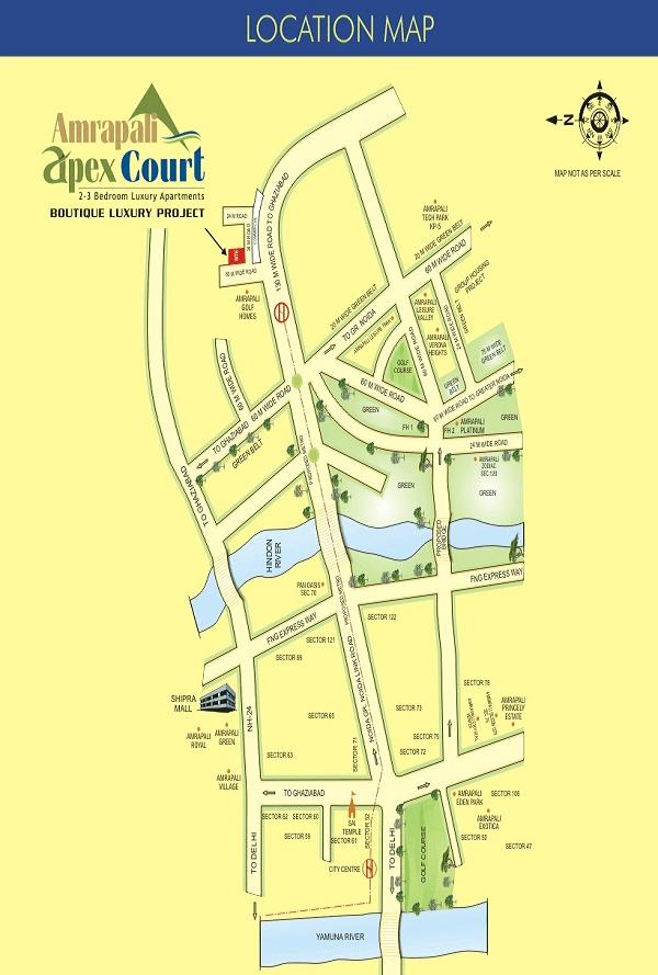 amrapali apex court location map , amrapali apex court