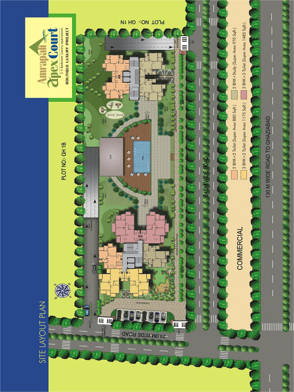 amrapali apex court site plan , amrapali apex court site