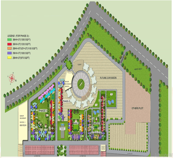 amrapali bollywood towers site plan , amrapali bollywood towers