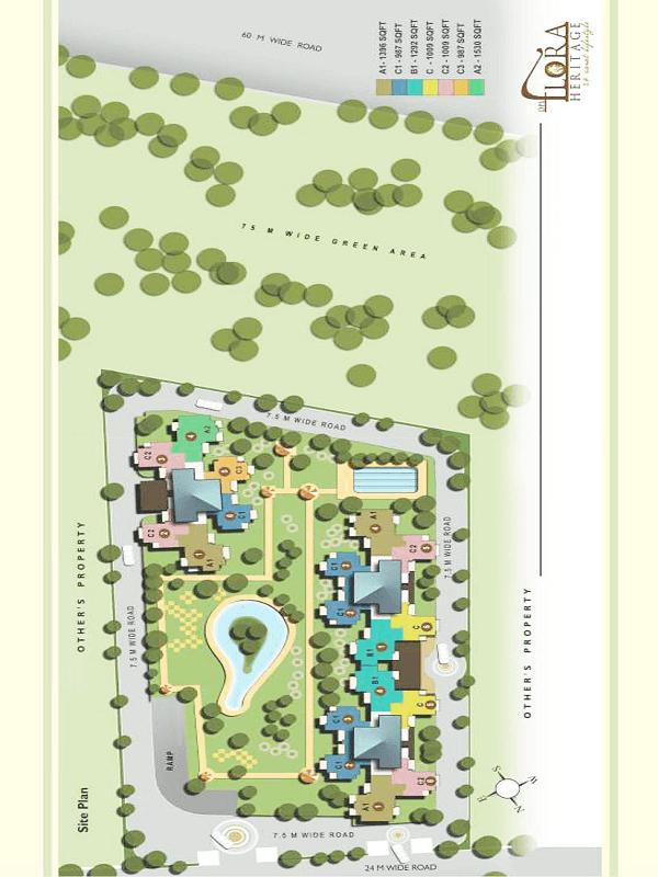 dpl flora Heritage site plan , dpl flora Heritage