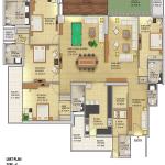 gaur amantha floor plan , gaur amantha