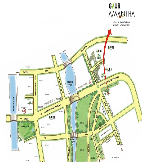 gaur amantha location map , gaur amantha