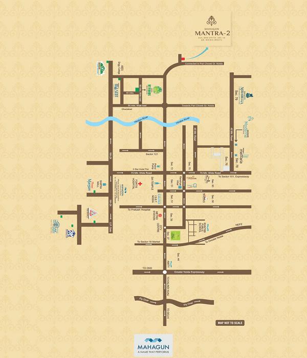 mahagun mantra 2 location map , mahagun mantra 2