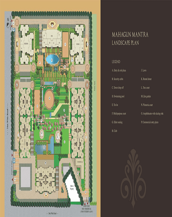 mahagun mantra site plan , mahagun mantra