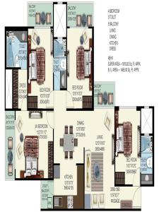 mahagun mywoods phase 2 floor plan , mahagun mywoods phase 2