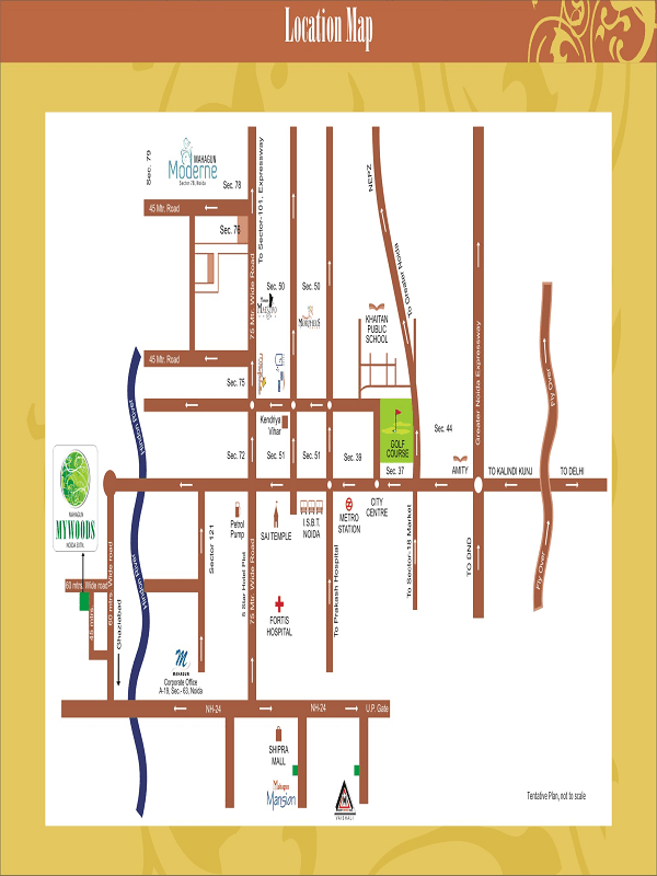 mahagun mywoods phase 2 location map , mahagun mywoods phase 2