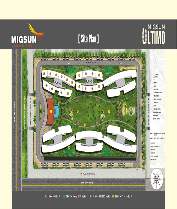 migsun ultimo site plan , migsun ultimo