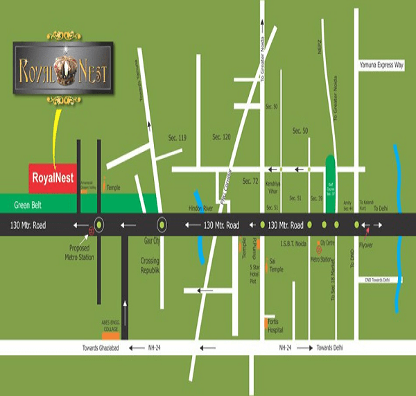omkar royal nest location map , omkar royal nest