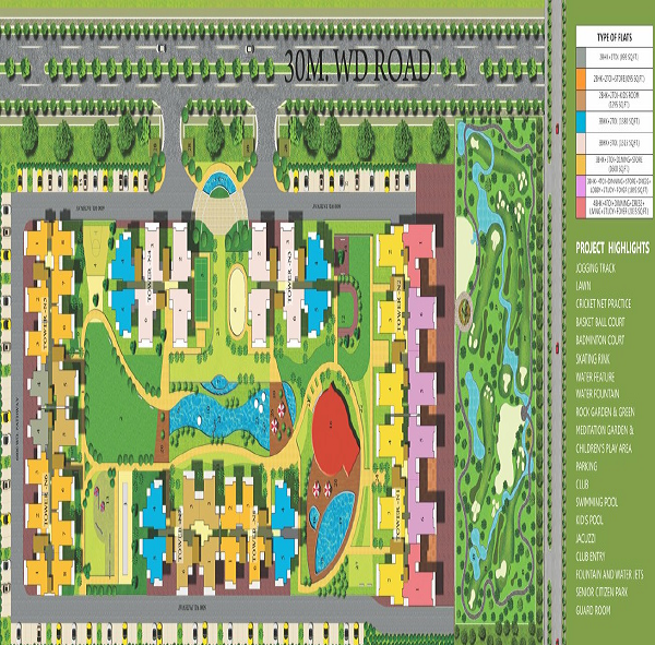 omkar royal nest site plan , omkar royal nest