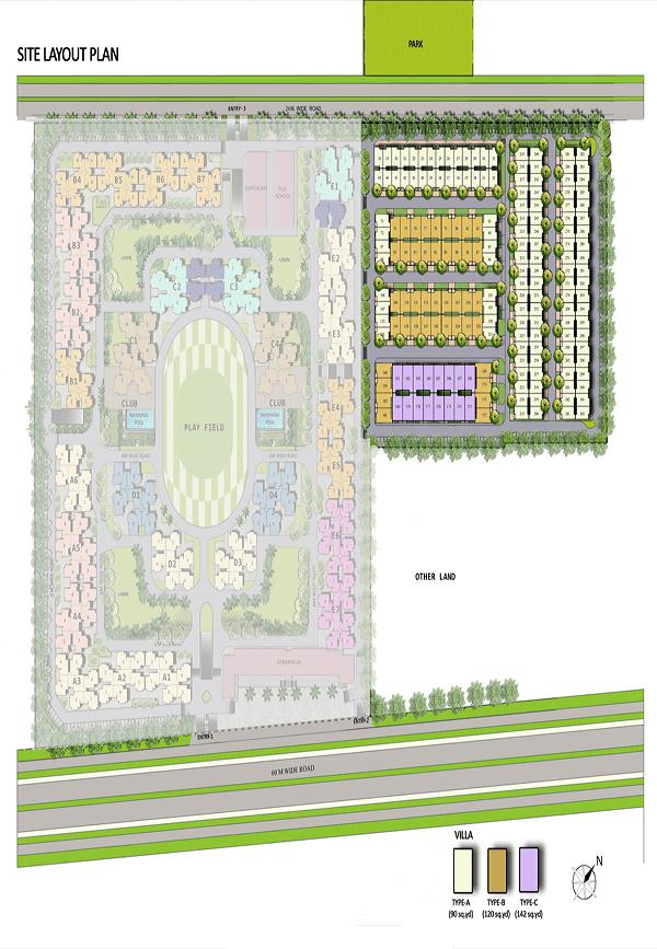 pansheel villas site plan , pansheel villas