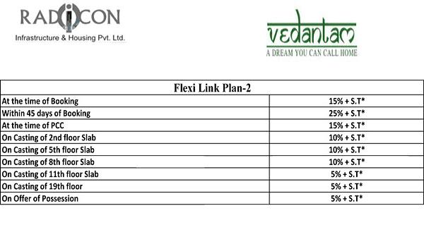 radicon vedantam payment plan , radicon vedantam