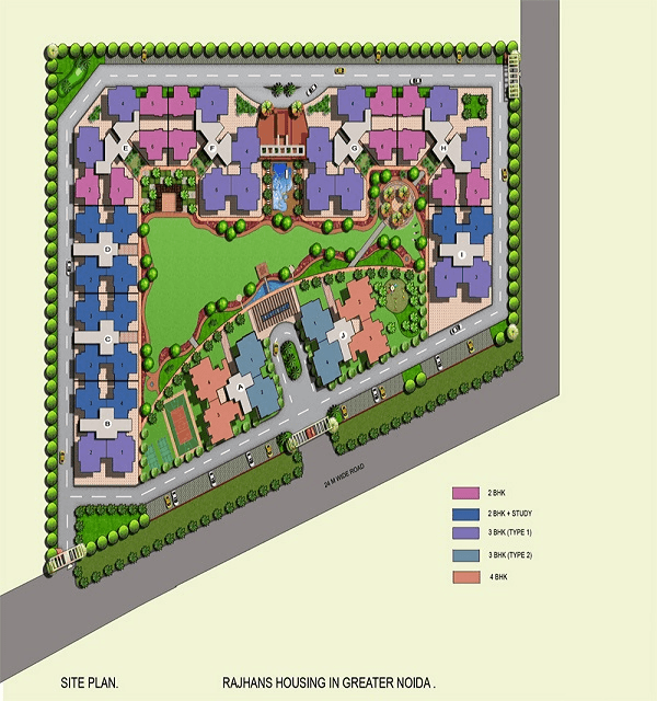 rajhans residency site plan , rajhans residency