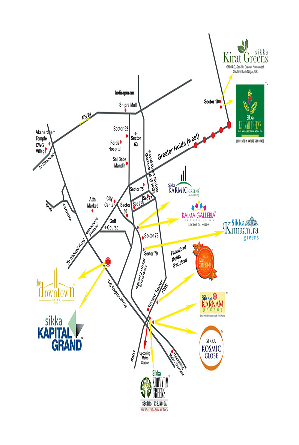 sikka kirat greens location map , sikka kirat greens