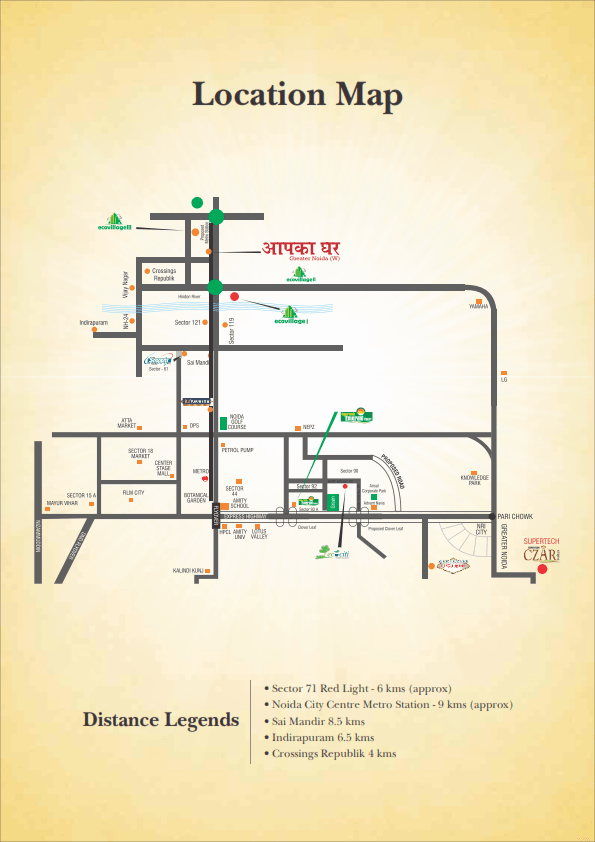 supertech aapka ghar location map , supertech aapka ghar