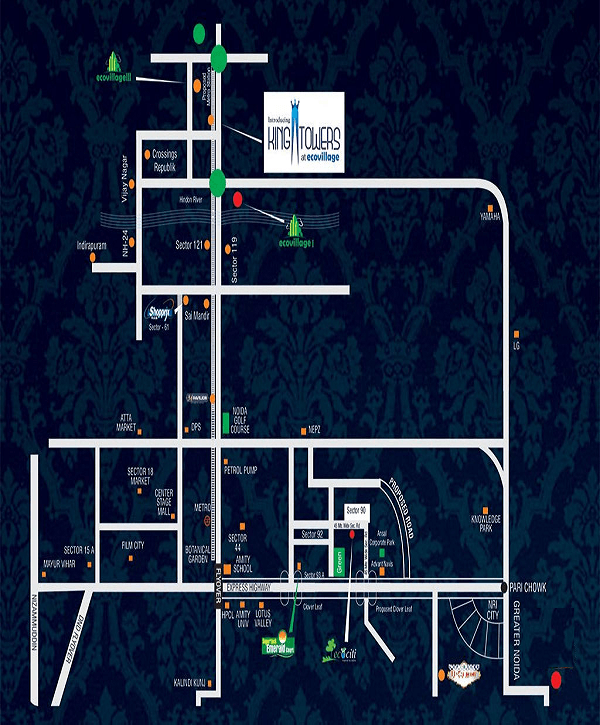 supertech king towers location map , supertech king towers
