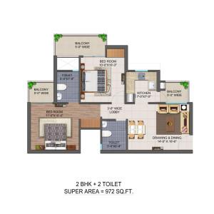 Jan Ghar Awas Yojna floor plan1
