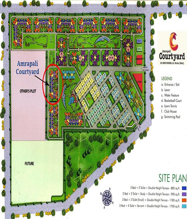 amrapali courtyard site plan , amrapali courtyard