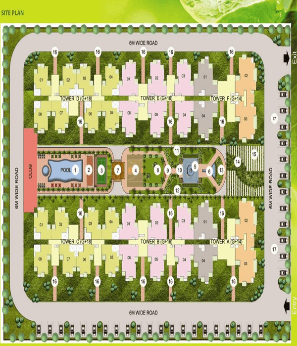 earthcon sparsh site plan , earthcon sparsh